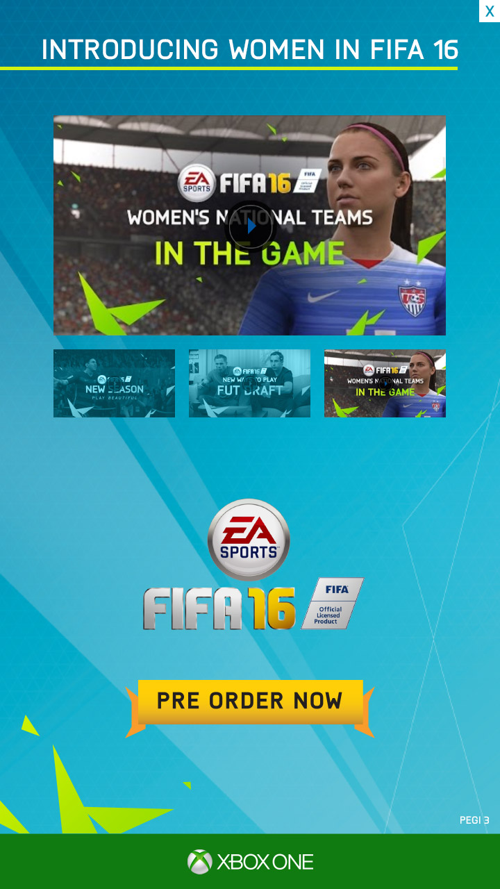 Introducing women in FIFA 16.